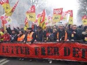 Manif cheminots Paris 22 mars 2018