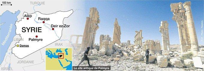 Syrie et site Palmyre