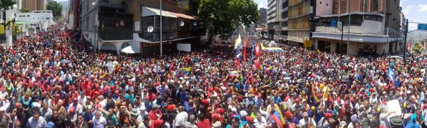 Venez mobilisation Caracas 30 avril 2019 contre tentative coup d'Etat