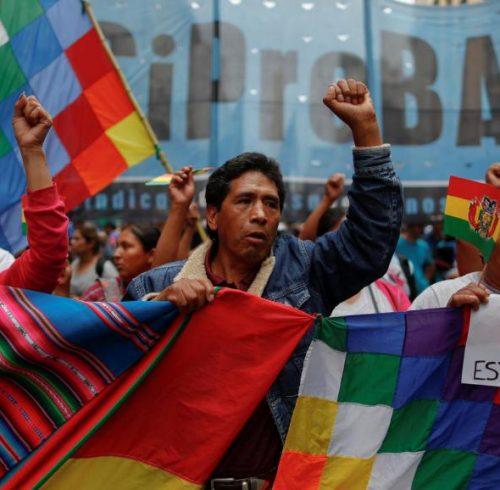 Bolivie soutien à Evo