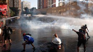 Protestas en Santiago contra el Gobierno de Sebastián Piñera