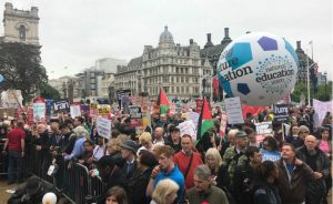 UK anti-Trump demo 2019-TowerHamlets