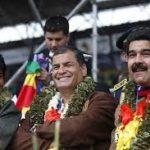 Venez Correa Evo et Maduro