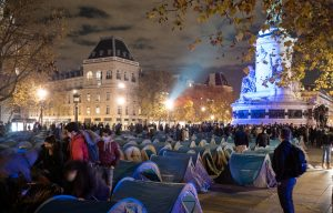 France migrants Place République